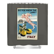 Vintage Travel Poster - Italy Shower Curtain