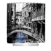 Vintage Venice Canal Shower Curtain