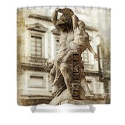 Violence 2 Overlays Shower Curtain