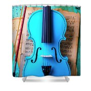 Violin Blues Shower Curtain