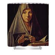 Virgin Annunciate By Messina Shower Curtain