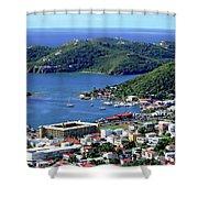 Virgin Island View Shower Curtain