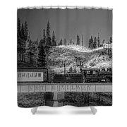 Virginia Truckee Railroad Shower Curtain