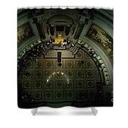 Visitors Tour Historic American Documents At The National Archives. Shower Curtain