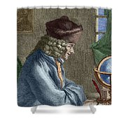 Voltaire In His Office In Vernay Shower Curtain