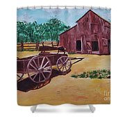Wagons And Barns Shower Curtain