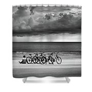 Waiting At The Edge Of The World Shower Curtain