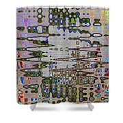 Waiting For The Barge At Aberdeen Abstract Shower Curtain