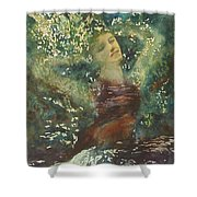 Waking Forest Shower Curtain