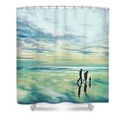 Walk At Sunset Shower Curtain