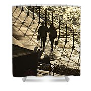 Walk By The Sea Shower Curtain
