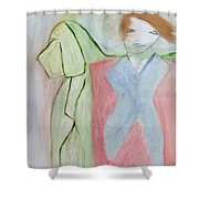 Walking The Dog Shower Curtain