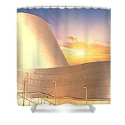 Wall Disney Concert Hall At Sunset Shower Curtain