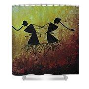 Warli Painting Shower Curtain