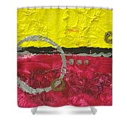 Warm Abstract Shower Curtain