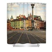 Warsaw - The Old Town Shower Curtain by Jaroslaw Blaminsky