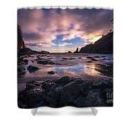 Washington Coast Skies Blue Clarity Shower Curtain