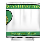 Washington State License Plate Shower Curtain