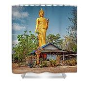 Wat Kham Chanot Golden Buddha Shower Curtain by Adrian Evans