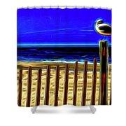 Watchin' The Tide Roll, Away Shower Curtain by Paul Wear