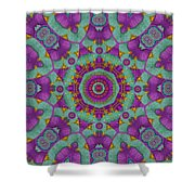 Water Garden Lotus Blossoms In Sacred Style Shower Curtain