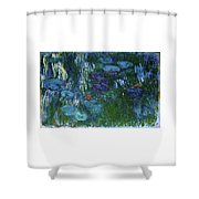 Water Lilies 1918 - Digital Remastered Edition Shower Curtain