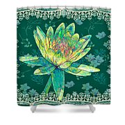 Water Lily And Lace Shower Curtain