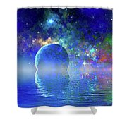 Water Planet One Shower Curtain