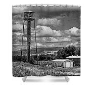 Water Tower In Hillsborough New Brunswick Shower Curtain