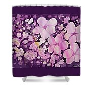 Watercolor - Cherry Blossom Design Shower Curtain