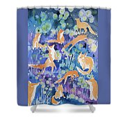Watercolor - Fox And Firefly Design Shower Curtain
