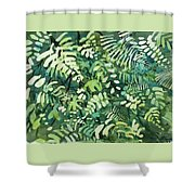 Watercolor - Rainforest Canopy Design Shower Curtain