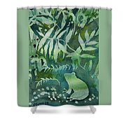 Watercolor - Tree Frog Design Shower Curtain by Cascade Colors