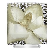 Watered Magnolia Fun Shower Curtain