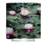 Waterlily Impressions Shower Curtain