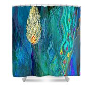 Watery Abstract Xviii - Women And Candles Shower Curtain