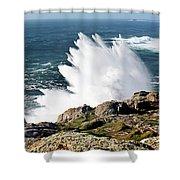 Wave Like Quartz Shower Curtain