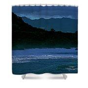 Waves In The Pacific Ocean, Waimea Bay Shower Curtain