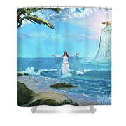Waves Of Mercy Shower Curtain