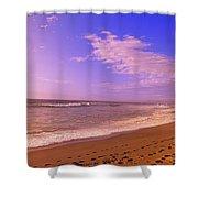 Waves On The Beach, North Beach, Point Shower Curtain