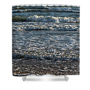 Waves Quietly Approaching Shower Curtain