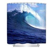 Waves Splashing In The Sea, Maui Shower Curtain