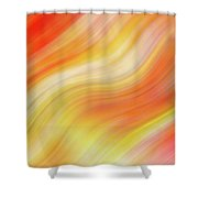 Wavy Colorful Abstract #5 - Yellow Orange Shower Curtain by Patti Deters