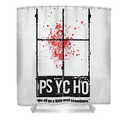 We All Go A Little Mad Shower Curtain