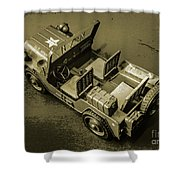 Weathered Defender Shower Curtain