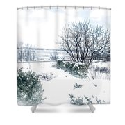 Welcome March Shower Curtain