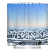 Western Lake In The Hills Shower Curtain