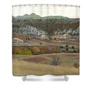 Western Edge Grasslands Grandeur Shower Curtain