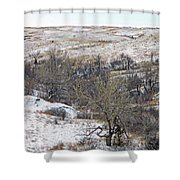 Western Edge Winter Hills Shower Curtain
