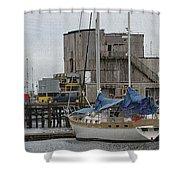 Westport Docks Shower Curtain